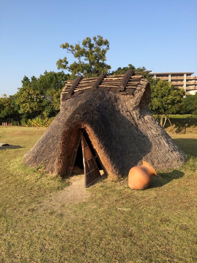 唯一中に入ることができた竪穴式住居